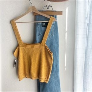 NWT BP Yellow Straight Up Sweater Tank Size L
